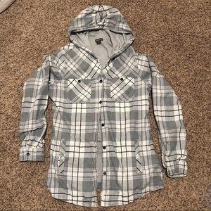 Eddie Bauer Women's Flannel Shirt Jac